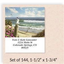 Shop Border Address Labels at Colorful Images