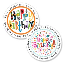 Shop Birthday Labels at Colorful Images