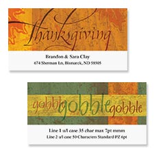 Shop Thanksgiving Labels at Colorful Images
