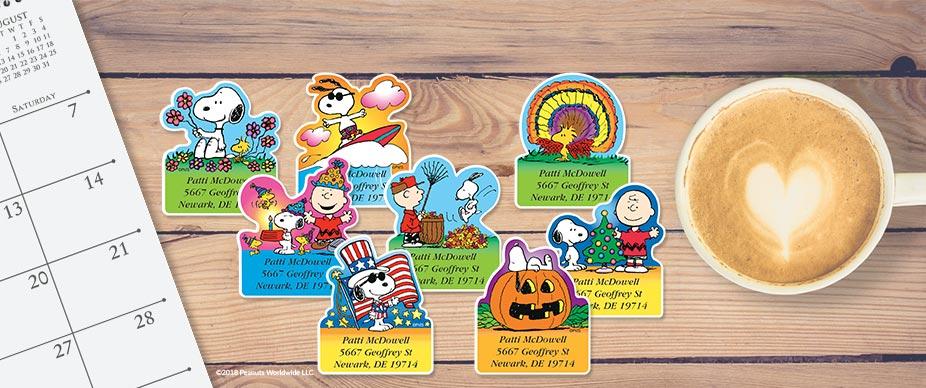 Shop PEANUTS® Labels at Colorful Images