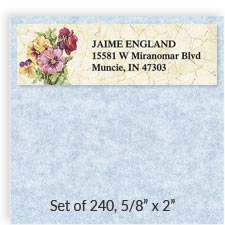 Shop Round Address Labels at Colorful Images