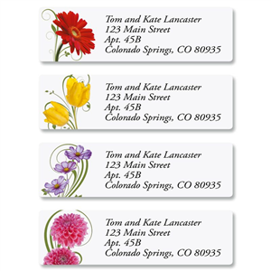 Shop Floral & Garden Address Labels at Colorful Images