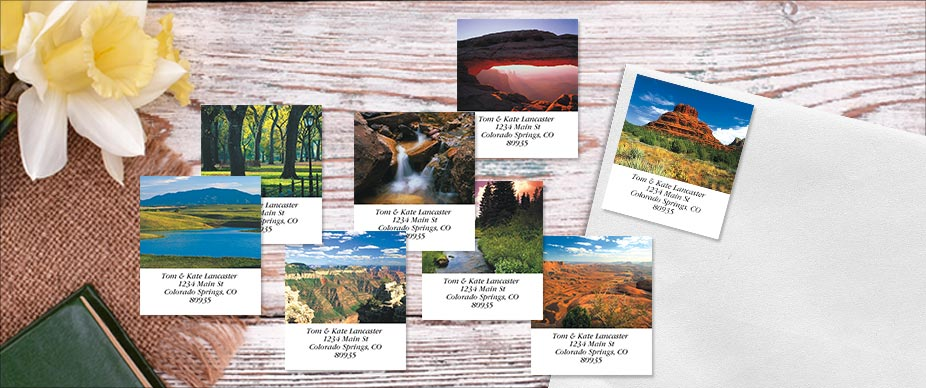 Shop Landscape Labels at Colorful Images