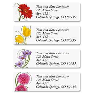 Shop Floral & Garden Address Labels at Colorful Images