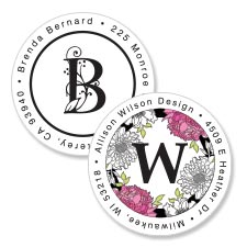 Shop Monogram & Initials Labels at Colorful Images