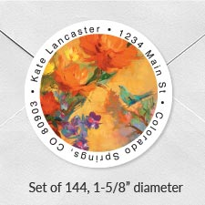 Shop Round Labels at Colorful Images