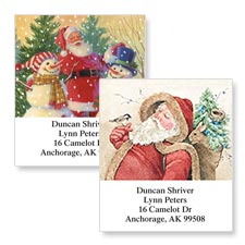 Shop Santa Claus Labels at Colorful Images