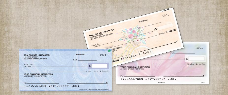 New Personal Checks At Colorful Images
