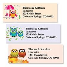 Shop Owls Labels at Colorful Images