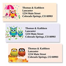 Shop Owls Labels at Colorful Images