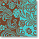 Aqua and Chocolate - Design Collections from Colorful Images