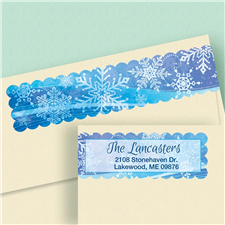 Shop Snowflakes Labels at Colorful Images