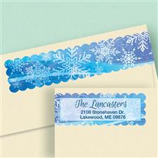 Shop Snowflakes Labels at Colorful Images