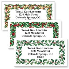 Shop Holly & Garland Labels at Colorful Images