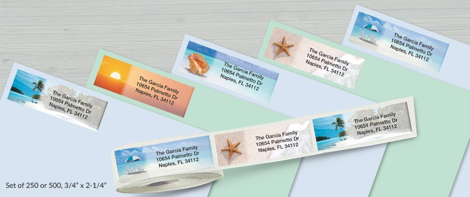 Shop Rolled Address Labels at Colorful Images